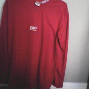 New York Giants Red Long Sleeve Shirt